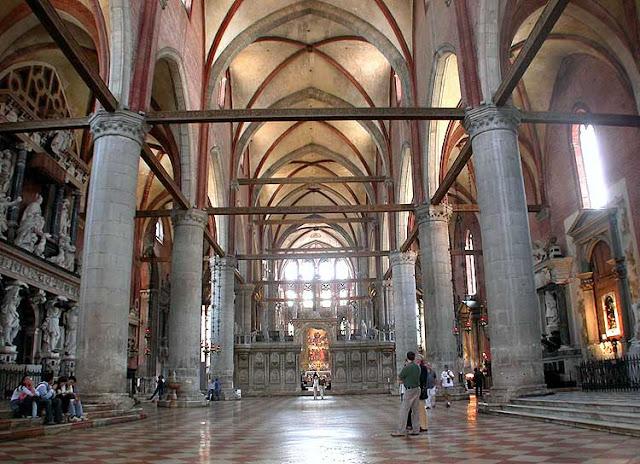 Informações sobre a Basílica Santa Maria Gloriosa em Veneza