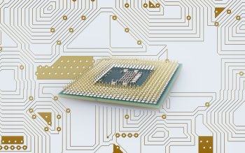 Wallpaper: Computer processor and board