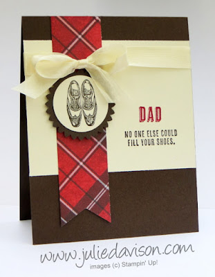 Stampin' Up! Guy Greetings Father's Day masculine card for Pocket Sketch Challenge #PSC10 #stampinup www.juliedavison.com