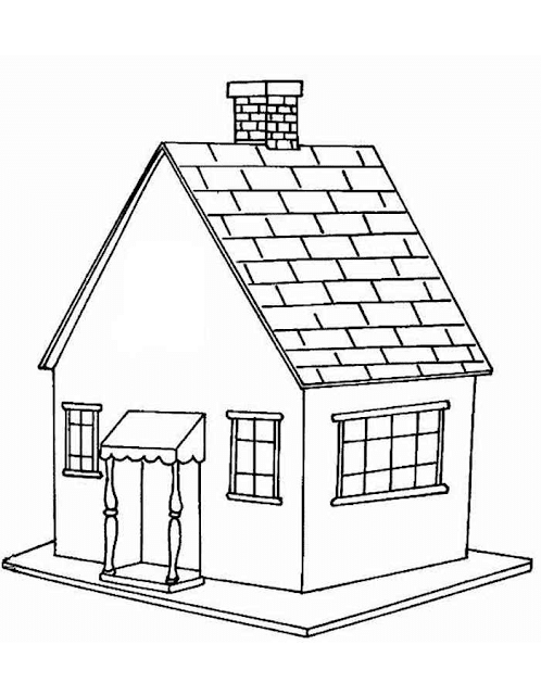 Mewarnai Gambar Rumah - 4