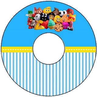 Etiquetas de Emoji para CD's.