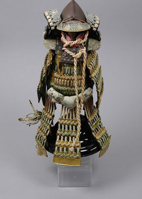 Top half of samurai armour including helmet.