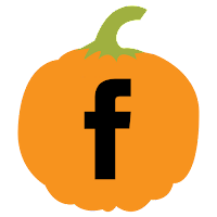 Facebook icon, pumpkin