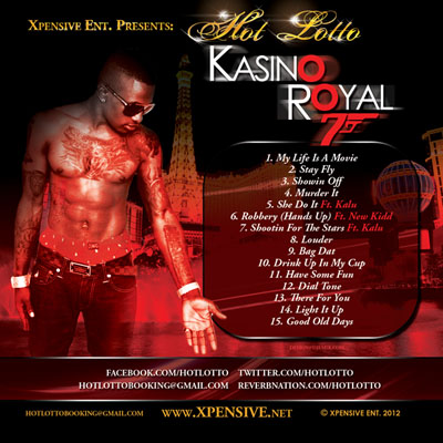 Hot Lotto Kasino Royal Mixtape Cover Design Back