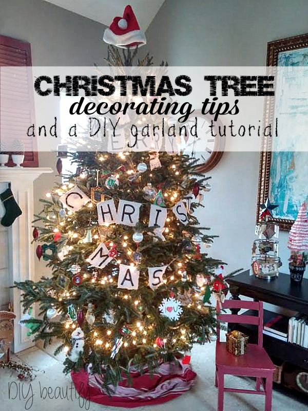 DIY Christmas Tree Garland idea at DIY beautify blog