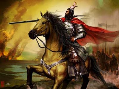 Cao Cao berkuda dalam perang