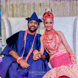 Photos from Banky w and Adesua Etomi traditional wedding