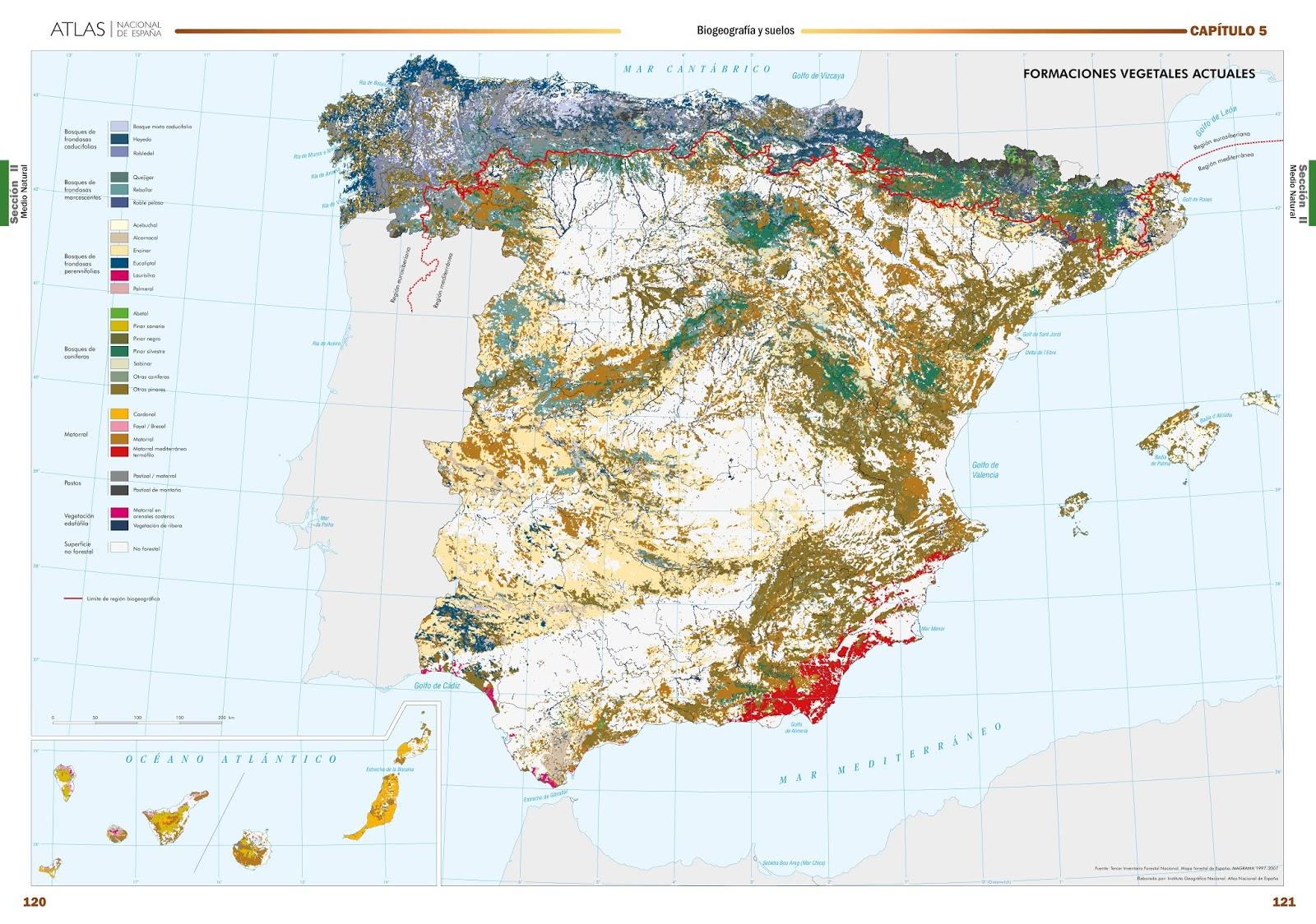 Educacion Forestal Espana En Mapas