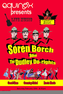 advert for Soren Borch and  The Dudley Do-Rights at Equinox Phnom Penh Cambodia