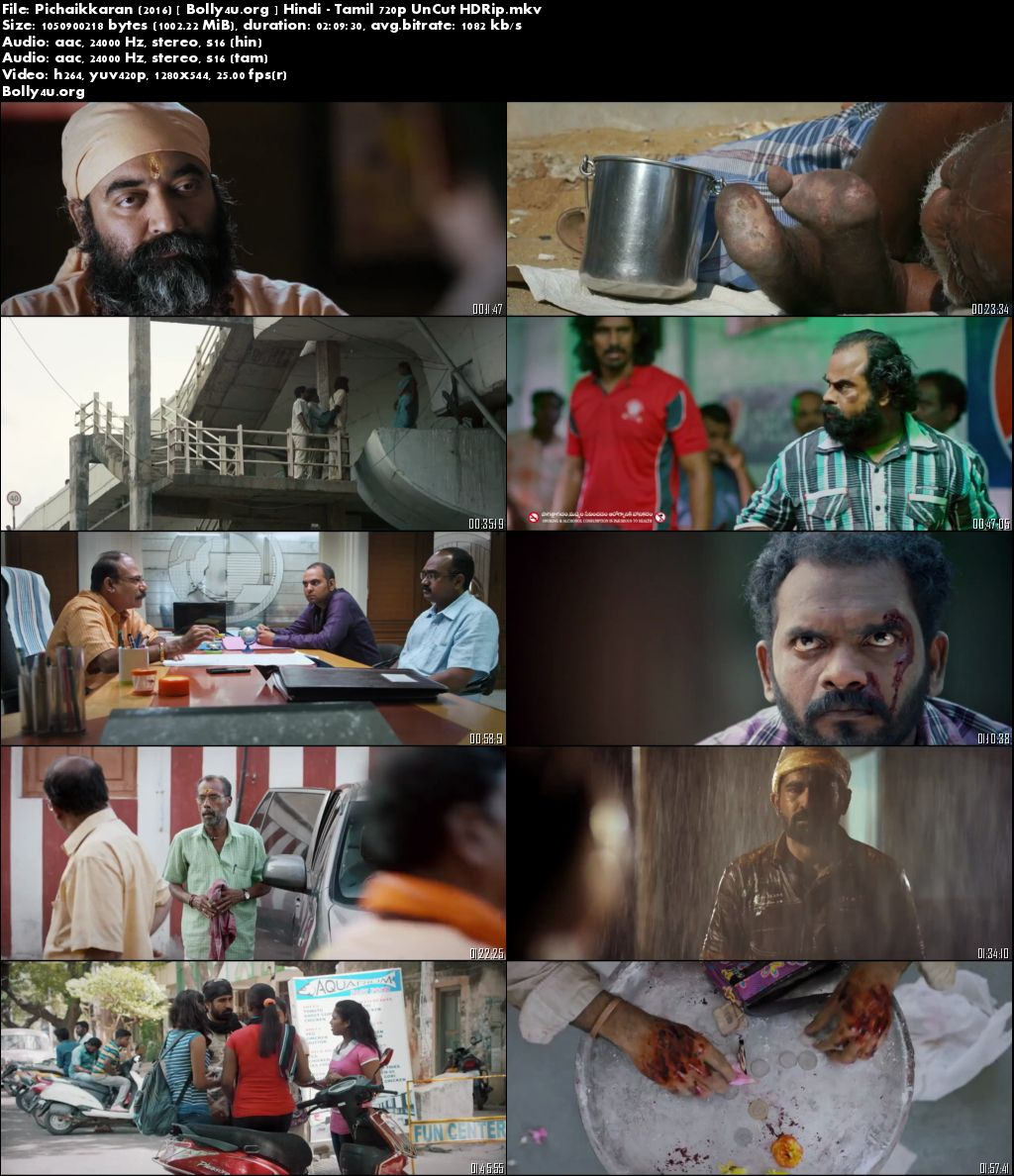 Pichaikkaran 2016 HDRip 999MB UNCUT Hindi Dual Audio 720p Download