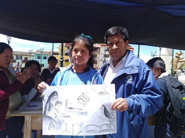 Concurso de dibujo y pintura en honor a César Vallejo en Santiago de Chuco
