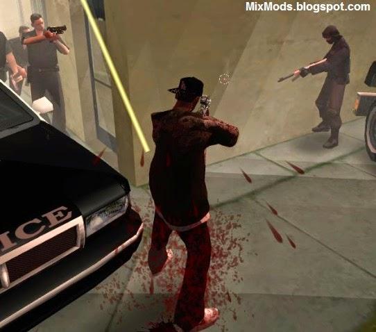 trocar mudar armas da polícia no gta sa