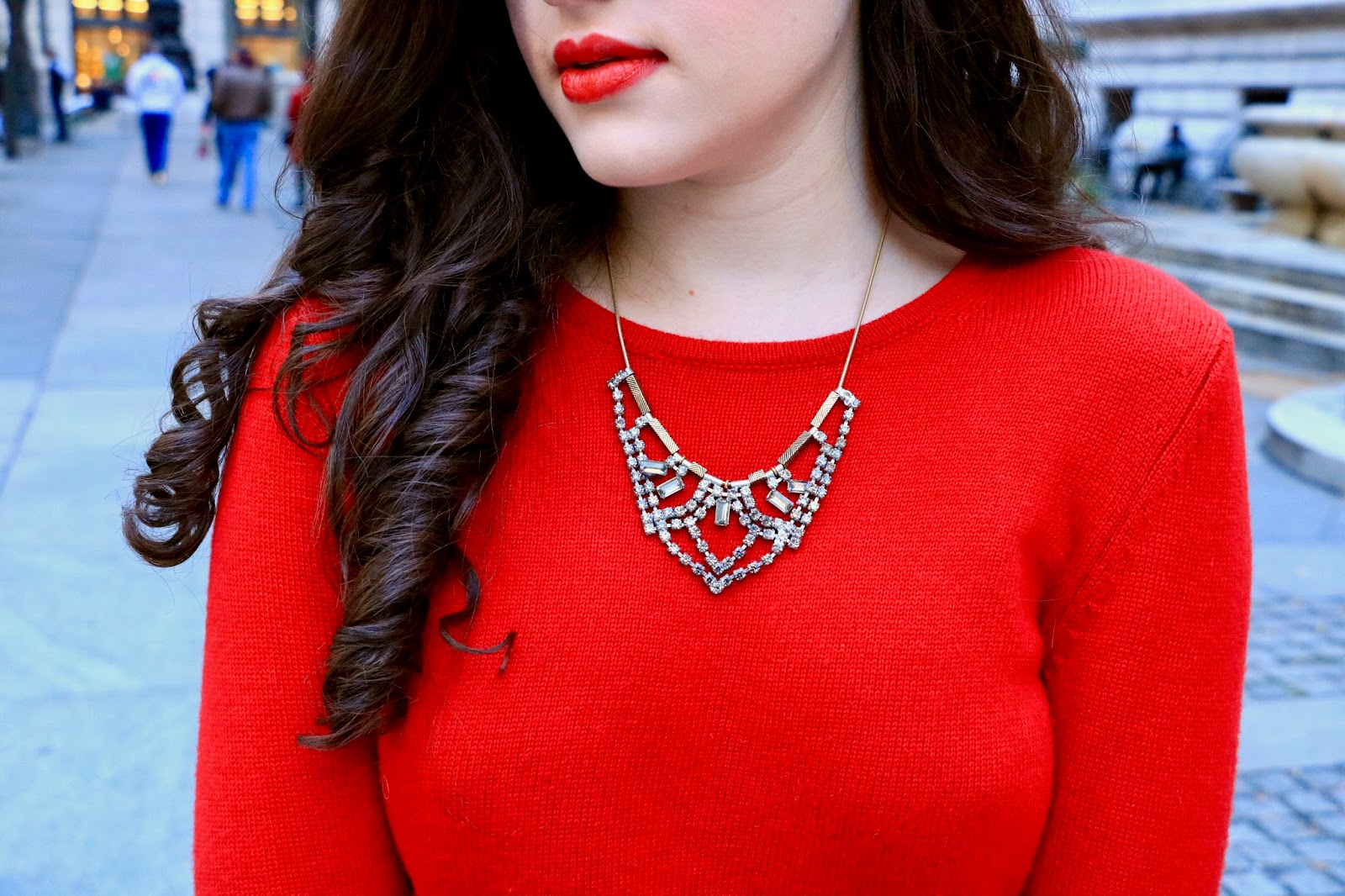 madewell crystal necklace pics