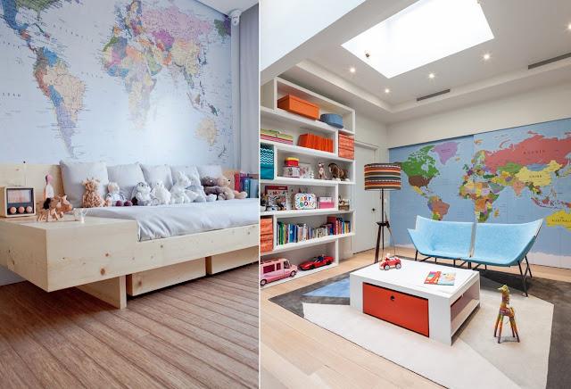 Como decorar a casa com mapas