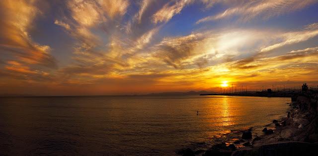 Ηλιοβασιλεμα στην Αττικη,Φωτο Κώστας Λαδάς