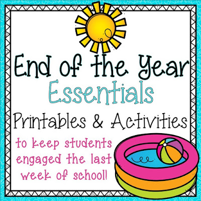 End of the year ideas for the classroom