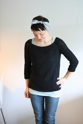 FREE KNITTING PATTERN TOP DOWN SWEATER - VERY SIMPLE FREE