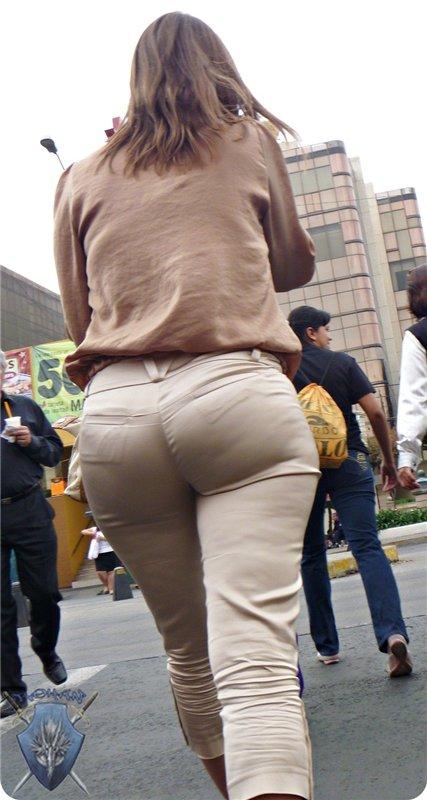 Milf on street with big ass