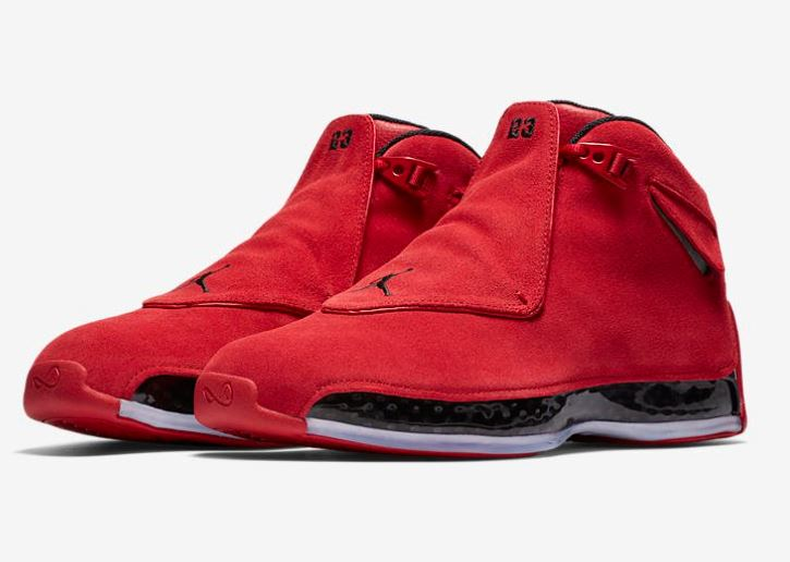 3165917d00b Air Jordan 18 Red Suede  Toro  Sneaker (Detailed Look + Release Date Info)