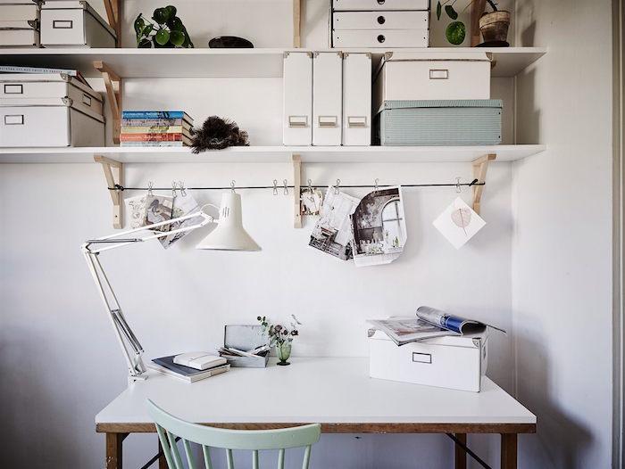 ideas para renovar tu casa- despacho con baldas a la vista