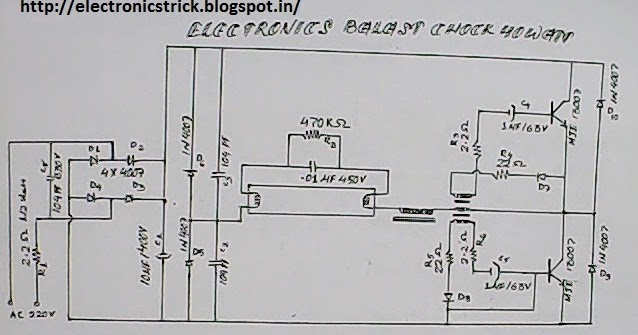 diagram electronic ballast with 13005