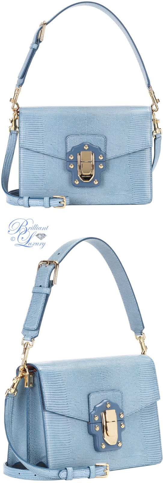 Brilliant Luxury ♦ Dolce & Gabbana Lucia leather shoulder bag