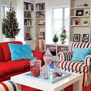 decoración navideña en sala