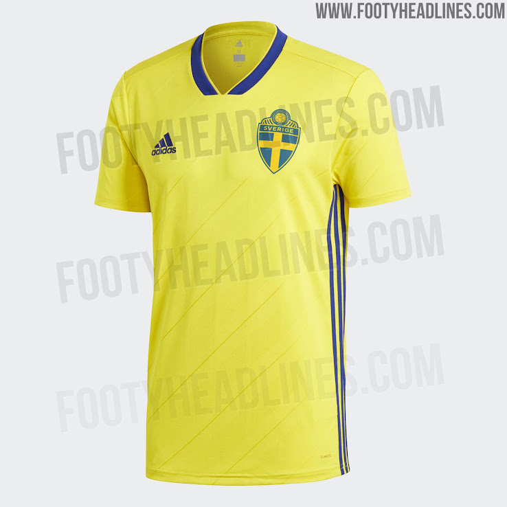 8d51ae700 Sweden 2018 Home Kit Released - Footy Headlines