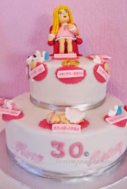 Torte zum 30. Geburtstag