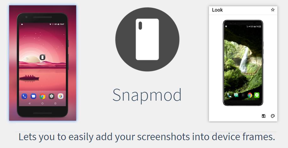 Snapmod 手機螢幕截圖添加裝置外框