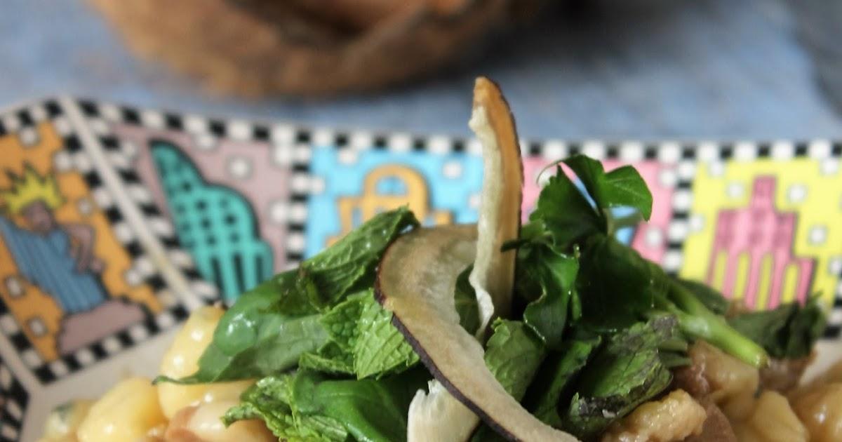 delicatezza e nitore: gnocchi di patate con brasato all'acqua di cocco