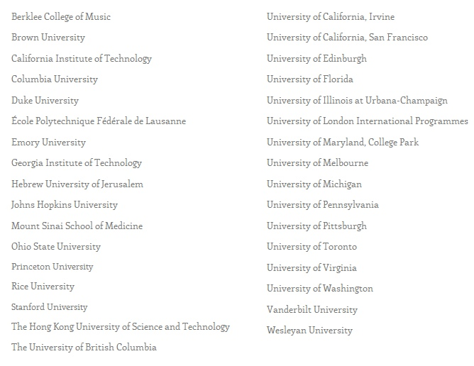 Welcome all!: Free Online Courses from Top Universities