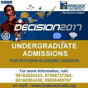 Babcock 2017/18 University Admission Form Out