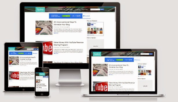 Spike Responsive Blogger Template