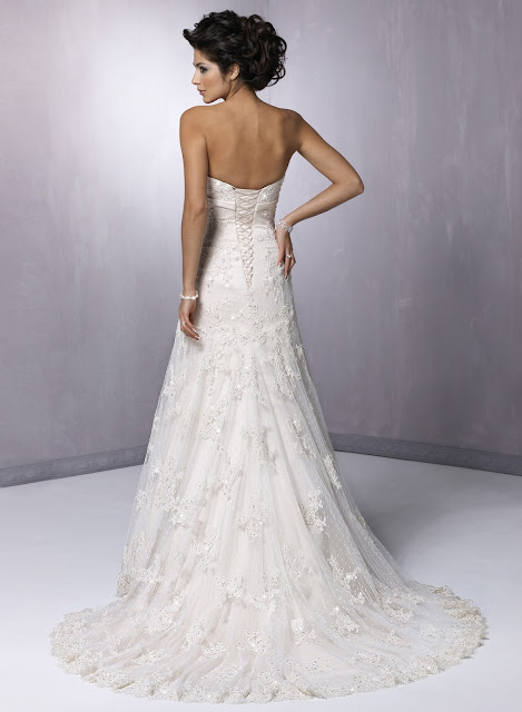 cheap but elegant strapless wedding dresses