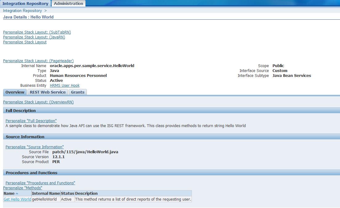 Allen Sandiego's Blog: Custom Interface Java Bean Service to