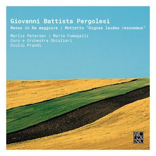 Portada de la grabación de sello Arcana dedicada a las dos obras inéditas de Giovanni Battista Pergolesi (1710-1736).