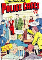 Authentic Police Cases v1 #12 st john crime comic book cover art by Matt Baker
