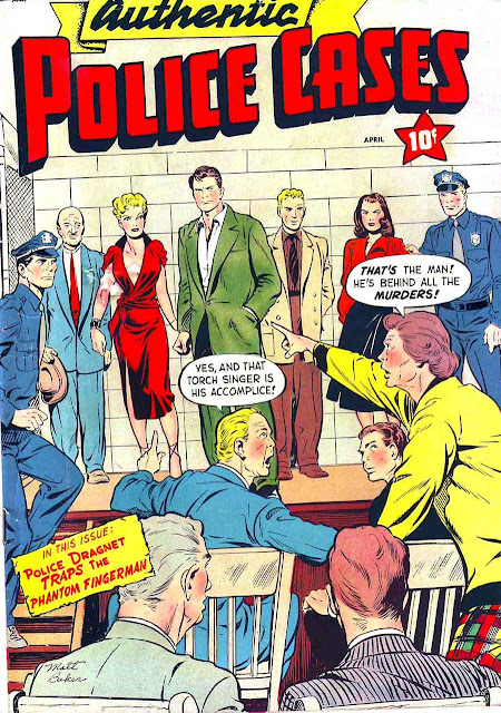 Authentic Police Cases v1 #12 st john crime comic book cover art by Matt Baker