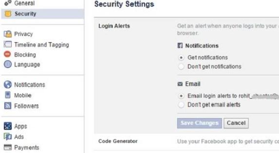 facebook logout button