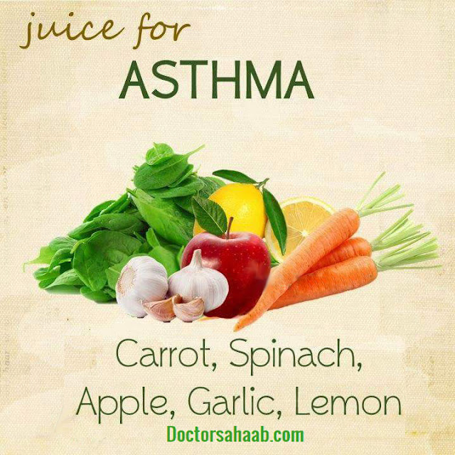Juice for Asthma (Carrot+Spinach+Apple+Garlic+Lemon)
