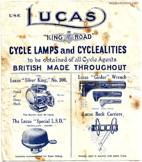 Hints on Lucas cycle oil lamps