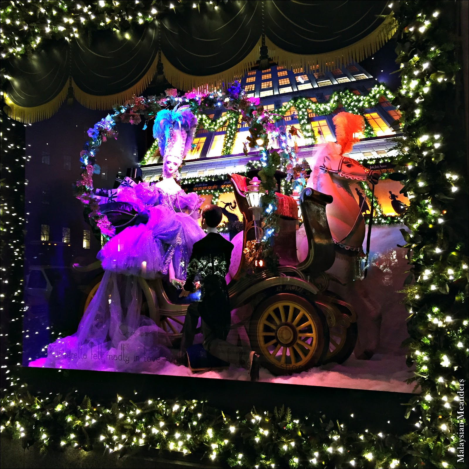 Saks Fifth Avenue Store: Malaysian Meanders: Saks Fifth Avenue's Enchanting Holiday