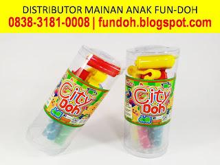 Fun-Doh Tabung Variant City Doh, fun doh indonesia, fun doh surabaya, distributor fun doh surabaya, grosir fun doh surabaya, jual fun doh lengkap, mainan anak edukatif, mainan lilin fun doh, mainan anak perempuan