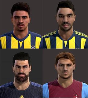 Faces: Ozan Tufan, Volkan Demirel, Volkan Sen, Yusuf Erdogan, Pes 2013