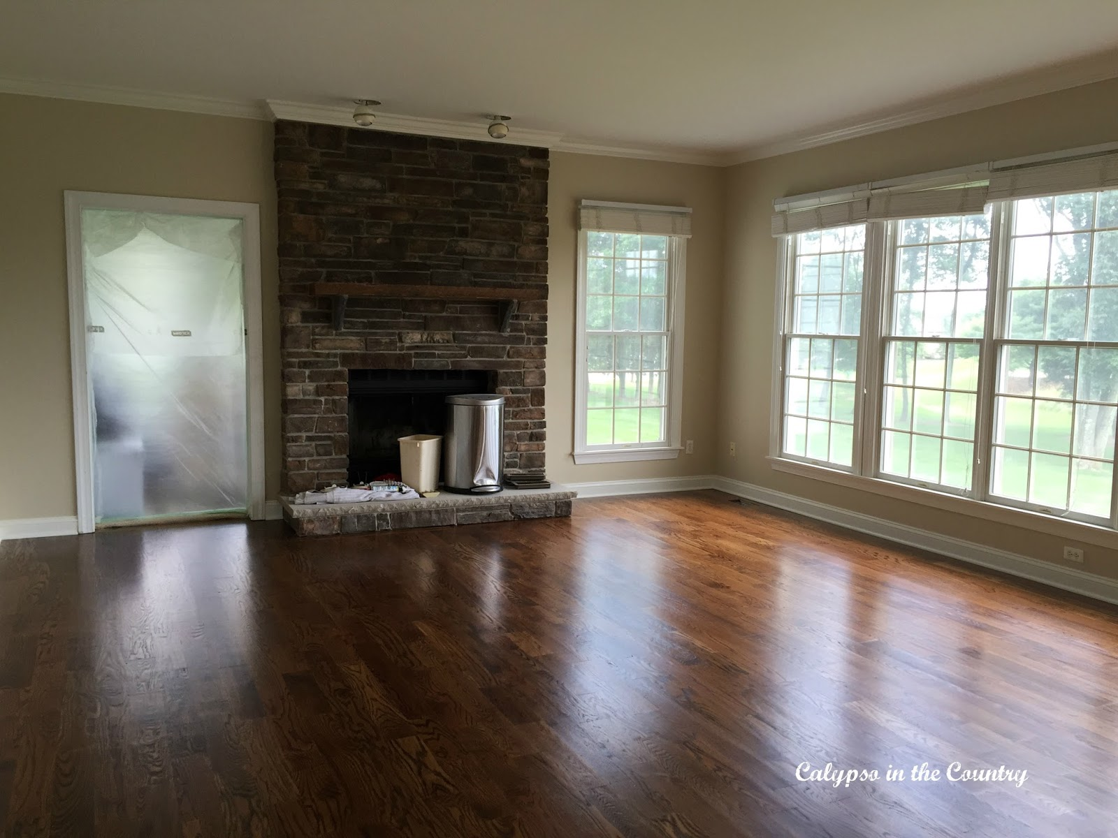 Red Oak Floors in Family Room - Minwax Provincial