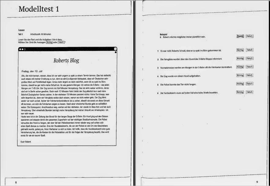 Prüfungstraining Goethe Zertifikat B2 Pdf Als Fremdsprachen