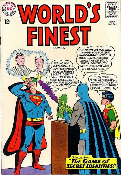 Episode #382 Part I: Superman Family Comic Book Cover Dated May 1965: World's Finest Comics #149!
