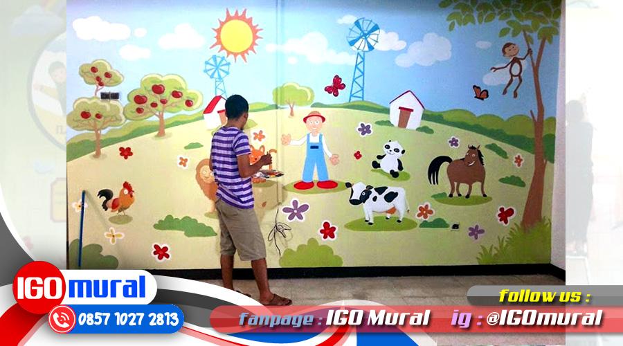 Lukisan Dinding Sekolah Lukisan Mural Dinding Sekolah
