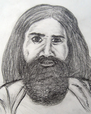 Sketch of Baba Ramdev